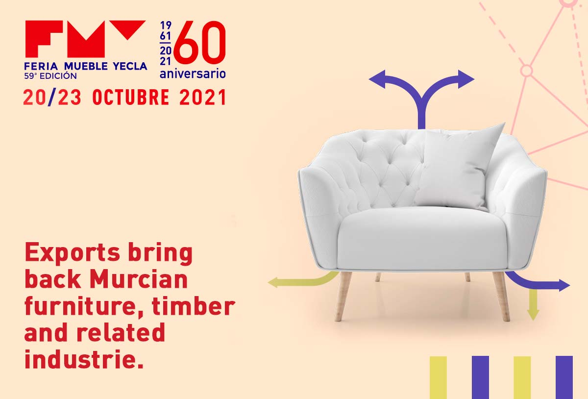 Exports bring back Murcian furniture, timber and related industries.